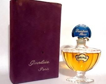 Vintage 1970s Shalimar by Guerlain 0.5 oz Extrait Pure Parfum Bottle Crystal Flacon & Box PERFUME