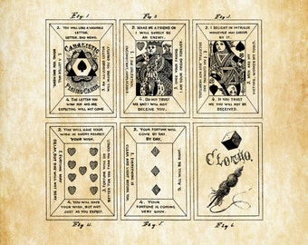 Playing Cards Patent - Patent Print, Game Room Decor, Game Night, Board Game Patent, Game Room Art, Vintage Games, Game Patent
