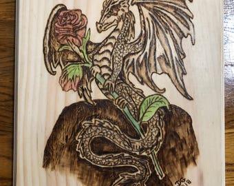 Lady Dragon Wall Plaque
