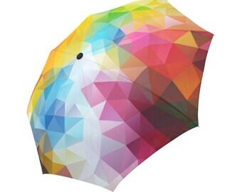 Umbrella Colorful Umbrella Designed Umbrella Geometric Pattern Umbrella Rainbow Umbrella Photo Print Umbrella Automatic Foldable Umbrella