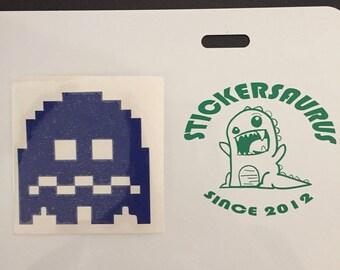 Pac-Man ghost vinyl sticker