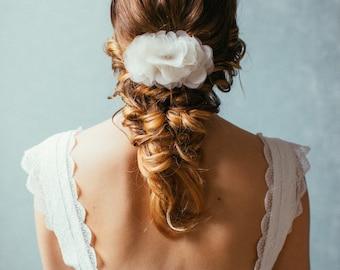 "Wedding Hair Flower, Bridal silk hair flower, Oktoberfest - ""Fee"""