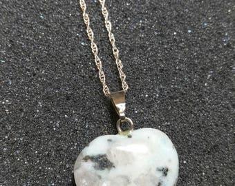 Jasper Heart Necklace