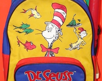 Vintage 90's Dr. Seuss And Friends Mini Backpack!  1997!