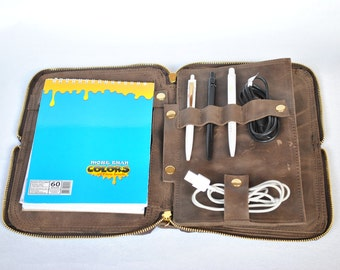Leather Ipad tablet Leather case for Ipad Travel case