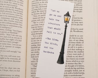 Chronicles of Narnia Bookmark - Typewriter - Illustrated - CS Lewis - Bookmark - Literary Quote