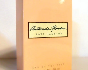 Vintage Perfume 1980s Antonia's Flowers 1.7 oz Eau de Toilette Spray Empty Box No Bottle