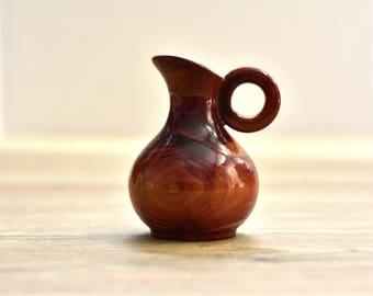 Vintage,Redwood,Miniature Pitcher,Collectible Souvenir,Wooden Pitcher,Miniature Vase,California Redwood,California Souvenir