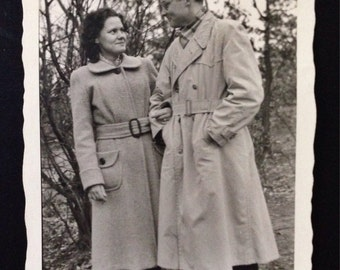 Original Vintage Photograph | She Liked the Trenchcoat