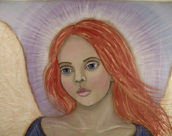 Angel Greeting Card Reproduction from Original Painting