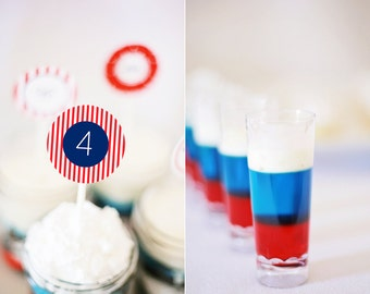 Instant Download - 4th of July Party Printables for celebrity Lauren Conrad