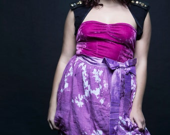 CLEARANCE. Zombie Prom Date size L costume, shredded prom dress and punk vest