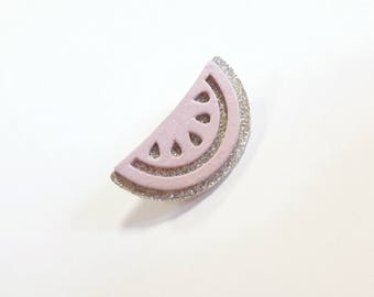 """Brooch """"watermelon pink and gold"""" * tutti frutti collection *."""