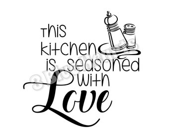Kitchen is Seasoned with Love SVG dxf Studio, Cutting Board SVG dxf Studio, Cooking svg dxg studio, kitchen svg studio, Seasoned with love
