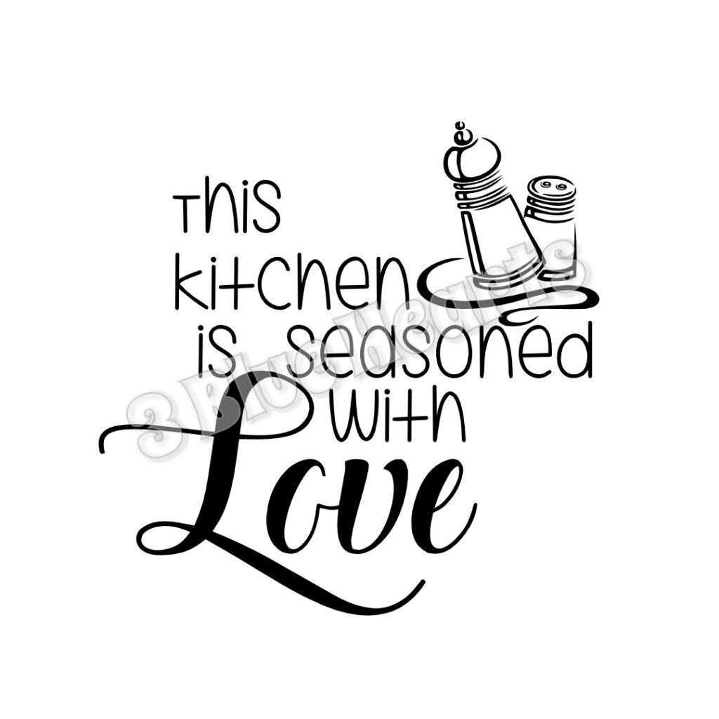 Download Kitchen is Seasoned with Love SVG dxf Studio Cutting Board