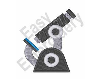 Microscope - Machine Embroidery Design