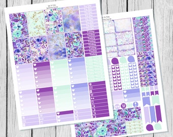 Lavender Planner Sticker Happy Planner Printable / Happy Planner Stickers / Printable Planner Stickers / Spring Planner Stickers