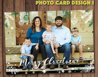 Photo Christmas Card Design {Family Christmas Card} {Photo} {Merry Christmas}