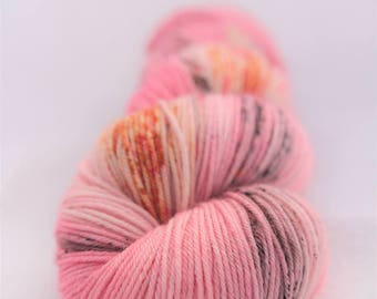 Hand-dyed yarn - sock yarn - superwash - merino - dyed-to-order - speckles - ELLA