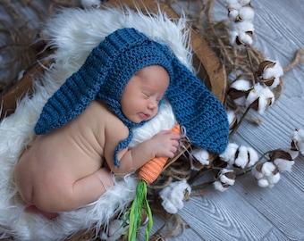 Blue Baby Bunny Ears