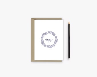 Thank you card with flower crown