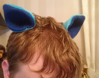 Blue pony/cat ears