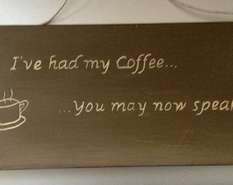 Coffee Themed Plaque