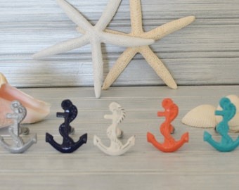 One Anchor Drawer Knob. Anchor Knob. Anchor Handle. Cabinet Knob. Dresser Knob. Anchor Decor. Beach Decor. Martime Decor. Nautical Decor