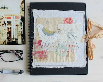 Blank notebook with beautiful hand embroidered applique
