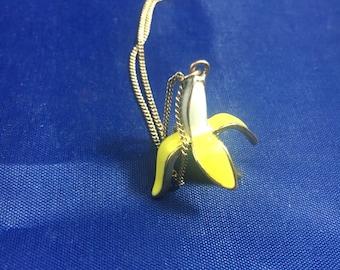 Peeled Banana Charm Necklace