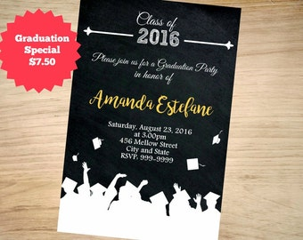 Graduation Invitation, Grad Invite, Graduation Invite, Class of, High School Graduation Invitation, College Graduation Invitation, Grad