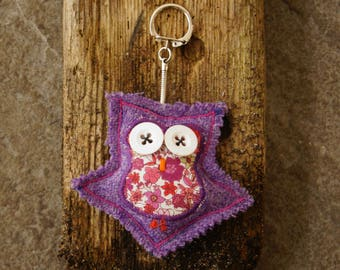Skigersta : Harris Tweed Owl Keyring