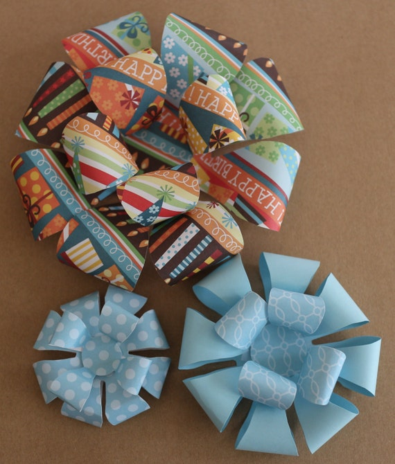 Bow templates large paper bow medium printable bow small maxwellsz