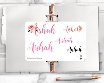 Custom Name Planner Stickers