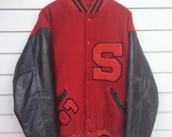 Vintage Varsity Letterman Jacket