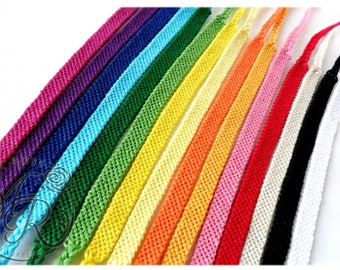 Solid Color Friendship Bracelet, Choose Your Own Colors
