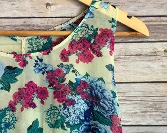 BOHO Sheer Top or Dress // Women's Shirt Dress // Floral