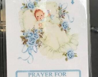 Prayer for Baby Laminated Prayer Card