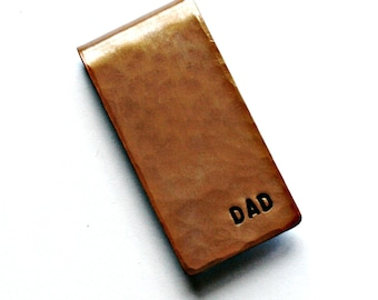 Copper Money Clip, Torch Fired and Hammered, Groomsman, Father's Day, Anniversary, Graduation, Birthday, Gift for Him, Customize