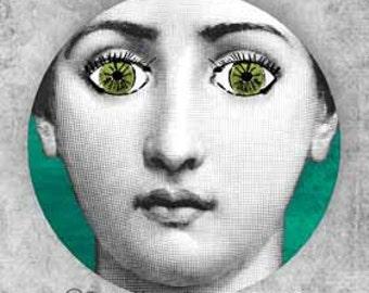 Lina Cavalieri Green Eyes II plate