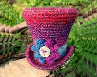 US Crochet Pattern for Top Hat Fascinator
