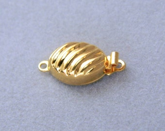 Beautiful Gold Plated Brass Box Clasp For One Strand