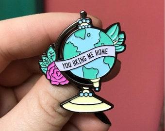 SECONDS Globe Enamel Pin (w/ minor flaw)