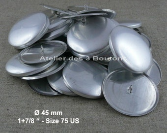 """25 Cover Buttons 1.7/8"""" (Size 75)"""