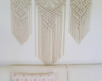 Macrame Wall Hanging, macrame wall hanging large, wedding decor, bohemian decor, contemporary art, wall art, wall decor, mothers day gift