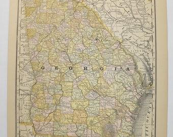Vintage georgia map Etsy