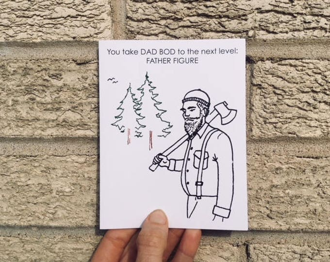 Father's Day Card - You take Dad Bod to the next level - FATHER FIGURE