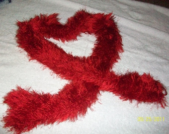 Fun Fur Knitted Scarf