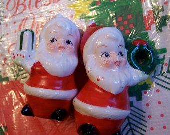 sweet faced santa figurines