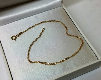 Delicate 925 silver bracelet gold plated SA289